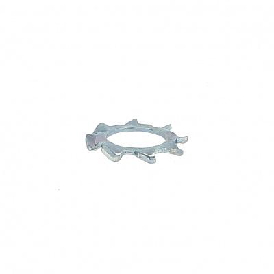 Ozubená (vejárová) podložka s vonkajším ozubením, pozinkovaná oceľ biela, DIN 6797A