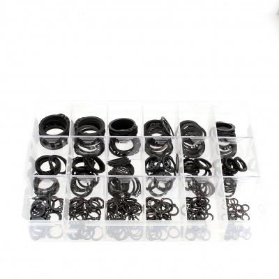 Kufrík súprav vonkajších poistných krúžkov, čierna oceľ, DIN 471
