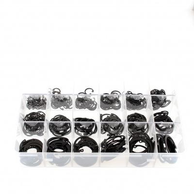 Kufrík súprav vnútorných poistných krúžkov, čierna oceľ, DIN 472